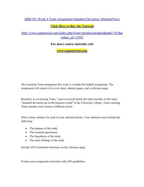 abstract page for apa format