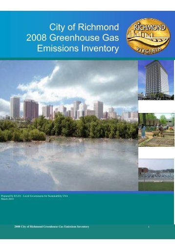 City of Richmond 2008 Greenhouse Gas Emissions Inventory