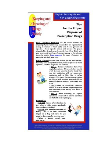 click here to review tips for the proper disposal of prescription drugs