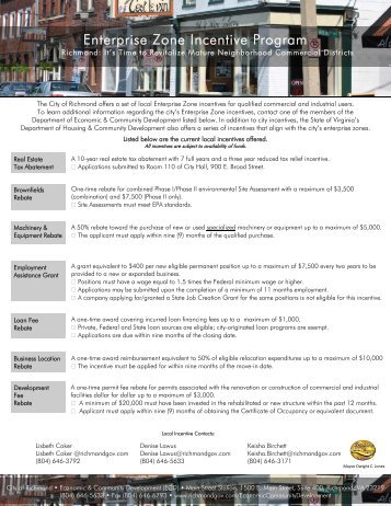 Enterprise Zone Incentive Program