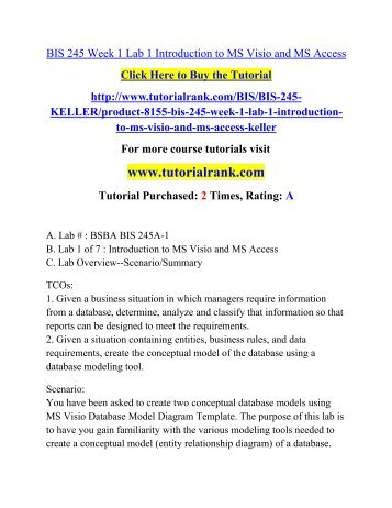 BIS 245 Week 1 Lab 1 Introduction to MS Visio and MS Access.pdf