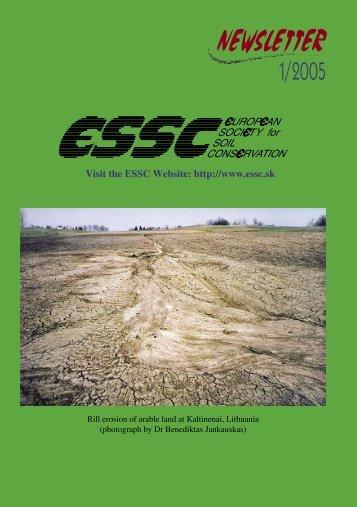 Newsletter 1 /2005 - ESSC