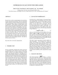 SUPERGRANULE SCALE CONVECTION SIMULATIONS ...
