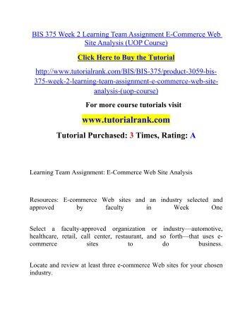 BUS 375 Week 2 Assignment