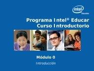 Programa Intel Educar Curso Introductorio