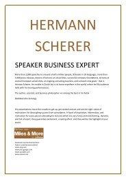 SPEAKER BUSINESS EXPERT - Hermann Scherer