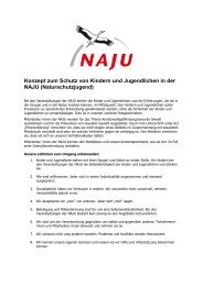 Konzept zum Schutz von Kindern und Jugendlichen in der NAJU (Naturschutzjugend)