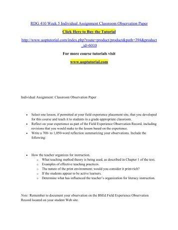 observation essay ideas