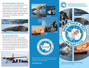 Don't Pack a Pest 01 US Letter - Antarctica XXI