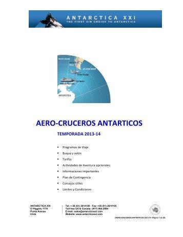 AERO-‐CRUCEROS ANTARTICOS