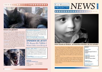 Newsletter 1/2013 - bei Life Essence Projects