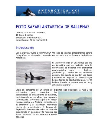 FOTO-SAFARI ANTARTICA DE BALLENAS