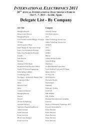 Delegate List - By Company - Future Horizons