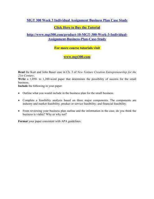 business case study format outline