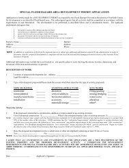 special flood hazard area development permit ... - Fairfield County
