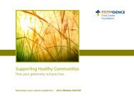 Supporting Healthy Communities - Providence - Providence Health ...