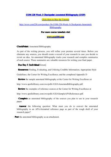 COM     Week   Checkpoint   Annotated Bibliography   Immigration     SlideShare