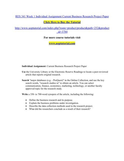 how to write an original research paper