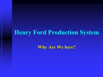 Henry Ford Production System
