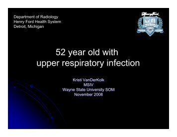 52 year old with upper respiratory infection