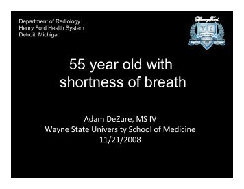 55 year old with shortness of breath
