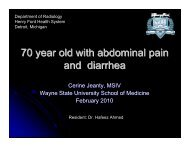 70 year old with abdominal pain and diarrhea