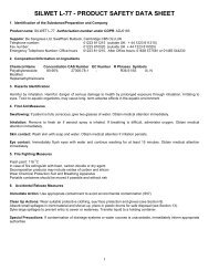 SILWET L-77 - PRODUCT SAFETY DATA SHEET