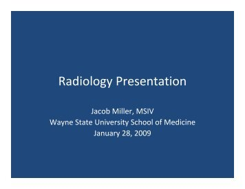 Radiology Presentation