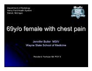 69y/o female with chest pain