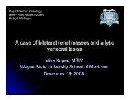 vertebral lesion