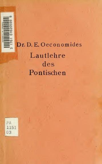 Lautlehre des Pontischen - Index of