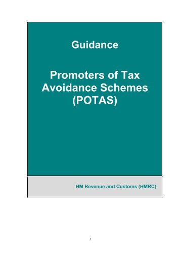 Promoters of Tax Avoidance Schemes (POTAS)