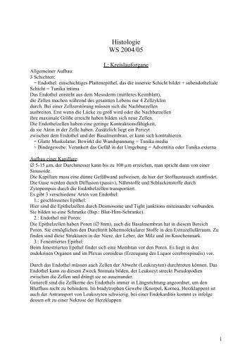 Histologie 3. Sem - MedStud.at