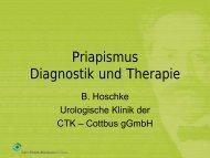 Priapismus Diagnostik und Therapie