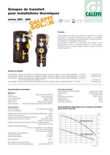 Groupes de transfert pour installations thermiques - Caleffi S.p.A.