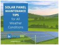 Kanas City Solar Panel Maintenance and Installation Services