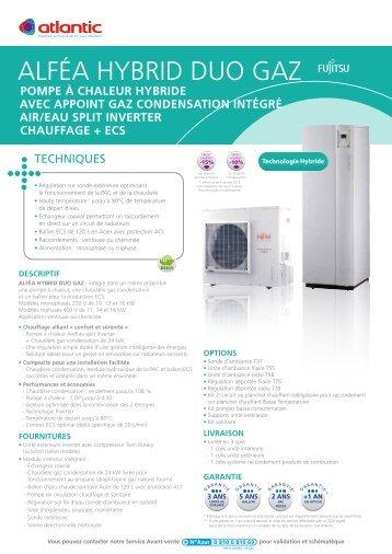 pompe à chaleur hybride avec appoint gaz condensation ... - Energia
