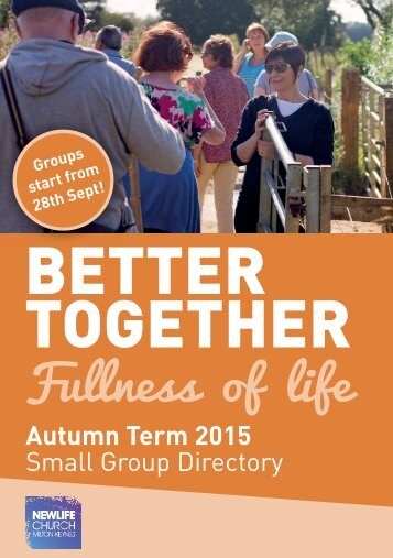 Autumn 2015 Small Group Brochure