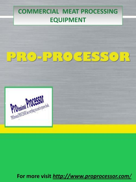 Commercial Meat Processing Equipment pdf
