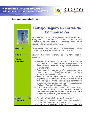 Trabajo Seguro en Torres de Comunicación