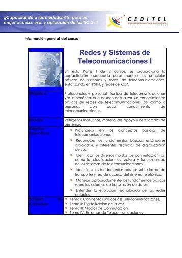 Redes y Sistemas de Telecomunicaciones I