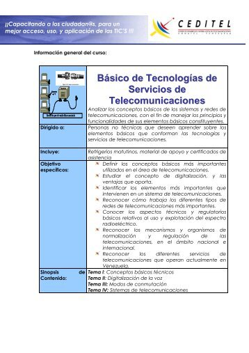 Básico de Tecnologías de Servicios de Telecomunicaciones
