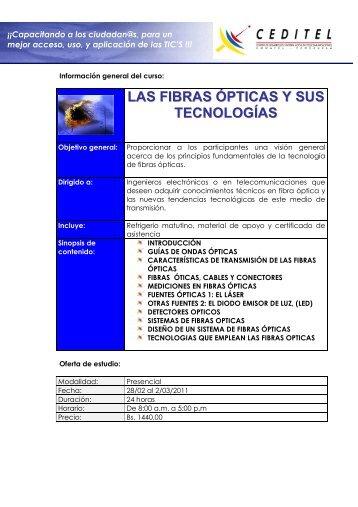 LAS FIBRAS ÓPTICAS Y SUS TECNOLOGÍAS