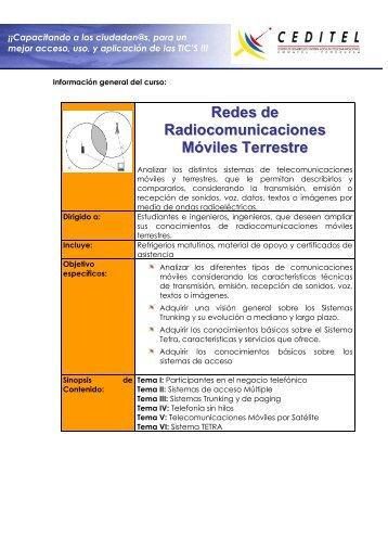 Redes de Radiocomunicaciones Móviles Terrestre