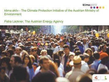 Petra Lackner The Austrian Energy Agency