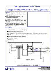 SMD High Frequency Power Inductor - Vitec Electronics