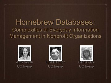 Homebrew Databases