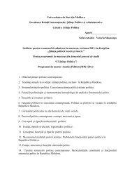 Universitatea de Stat din Moldova Facultatea Relaţii Internaţionale ...