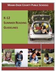K‐12 SUMMER READING GUIDELINES