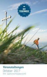 Veranstaltungskalender der Urlaubsregion Tegernsee